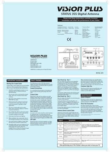 Status 355 Instructions